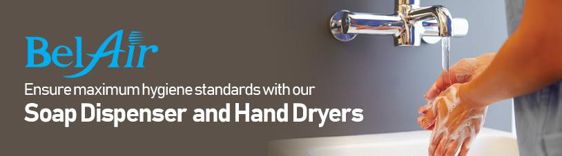 Hand Dryer & Soap Dispenser