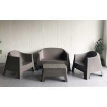 Plastic Sofa Set w/cushion
