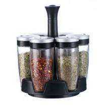 6 Jars Spice Rack Set